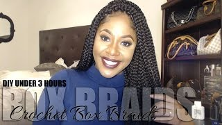 getlinkyoutube.com-DIY Crochet Large Box Braids #DIYCROCHETBRAIDS Under 3 hours