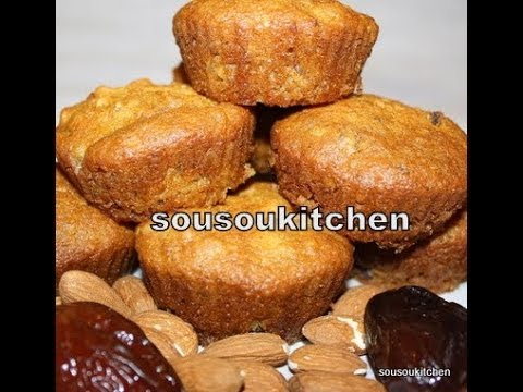 Cupcakes with Dates/Cupcakes aux dattes-Sousoukitchen