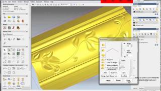 getlinkyoutube.com-artcam relief, 3/3: create relief in ArtCAM and make tool path