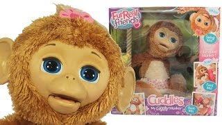 getlinkyoutube.com-Furreal Friends Cuddles My Giggly Monkey Pet