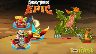 getlinkyoutube.com-Angry Birds Epic: Vs Green Boss Dragon - Angry Birds Vs Puzzle and Dragons