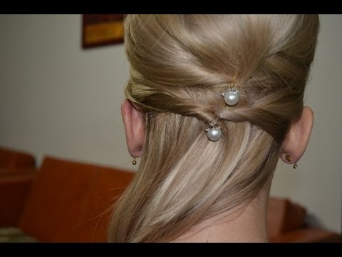 Easy updo for medium long hair - coafura ocazie par mediu