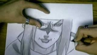 getlinkyoutube.com-how to draw sasuke uchiha curse mark lvl 2