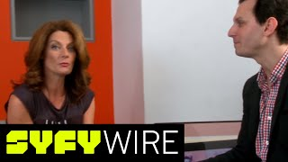 getlinkyoutube.com-Michelle Gomez Talks Doctor Who Season 9, and River Song's Hair - Celebrity Interview | Syfy Wire
