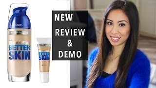 getlinkyoutube.com-NEW: Maybelline Superstay Better Skin foundation and concealer | Review | Demo | All day test