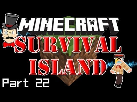 Minecraft SURVIVAL ISLAND - Creeper Visit, Long Distance Call & Door Etiquette! (Part 22)