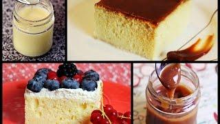 Trilece kolač sa domaćom karamel kremom ili šlagom i voćem/ Pastel de tres leches/ Trileçe Tatlısı