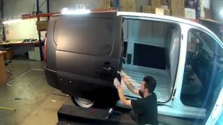 getlinkyoutube.com-Black Matt - 2B Total Covering -  Car Wrapping - on Jumpy Citroën - Time Lapse