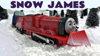 getlinkyoutube.com-Thomas The Train Snow Clearing James Trackmaster Thomas & Friends Kids Toy Train Set