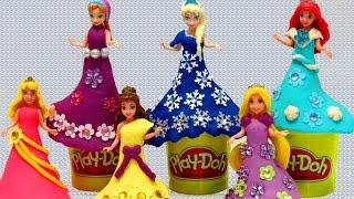 getlinkyoutube.com-Play-Doh Disney Princess Magic Clip Glitter Glider Dressup - itsplaytime612