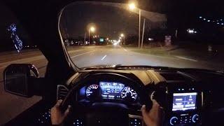 getlinkyoutube.com-2015 Ford F-150 Platinum Supercrew 4x4 - WR TV POV Night Drive