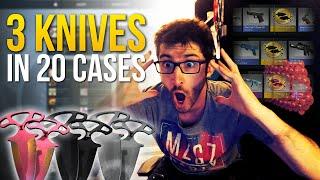 getlinkyoutube.com-3 KNIVES IN 20 CASES !! - CS:GO SHADOW CASES
