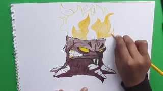 getlinkyoutube.com-Dibujando paso a paso a Plantorcha (Plantas vs Zombies) - Step by step drawing Plantorcha