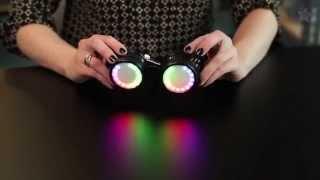 getlinkyoutube.com-Kaleidoscope Eyes NeoPixel Ring Costume Goggles