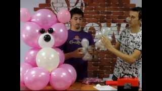 getlinkyoutube.com-Мишка из воздушных шаров, своими руками (balloons bear)