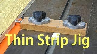 getlinkyoutube.com-Make Thin Strip Jig for the Table Saw