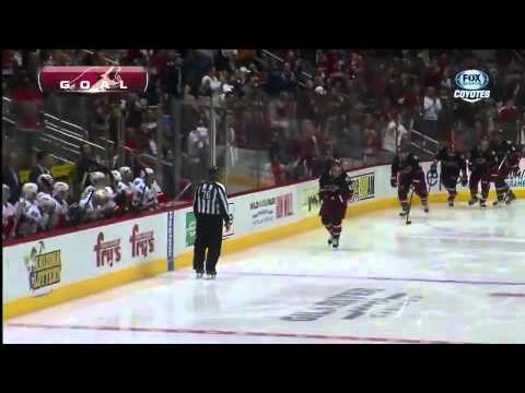 #89 Mikkel Boedker Goal vs. Calgary Flames February 18, 2013 NHL