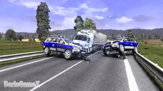 getlinkyoutube.com-ETS 2 Hot Pursuit Mode - Contraband Cargo - Traffic Police - Нелегальные Грузы - Мод Полиции