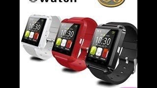 getlinkyoutube.com-U Watch U8 Bluetooth smart Watch International Unboxing