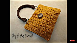 getlinkyoutube.com-CROCHET How To #Crochet Cross Cable Handbag Purse TUTORIAL #351