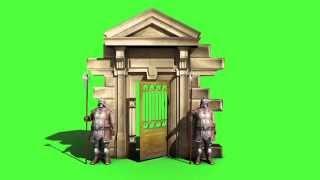 getlinkyoutube.com-Green Screen Guards Armor Entrance - Footage PixelBoom
