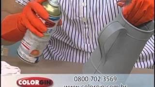 getlinkyoutube.com-Colorgin no Ateliê na TV - Arte feita na jarra de metal galvanizado