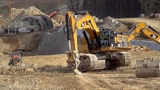 getlinkyoutube.com-CAT 390D LME loading Volvo A25E Dumper |  #S21 Tunnel Widderstall | 25.02.2013