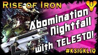 getlinkyoutube.com-Destiny Rise of Iron Abomination Heist Nightfall with Telesto