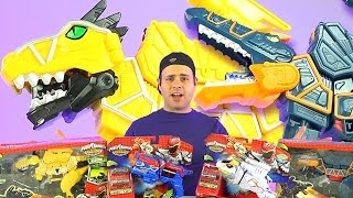 getlinkyoutube.com-Power Rangers Dino Super Charge New Toys! (Titano Morpher, Yellow Rexy!)