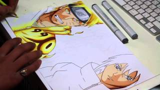 getlinkyoutube.com-Naruto and Sasuke Speed Drawing - Naruto Shippuden
