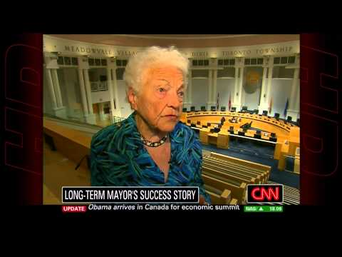 Mississauga Mayor Hazel McCallion on CNN.
