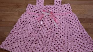getlinkyoutube.com-Crochet Vestidos para Niñas paso a paso