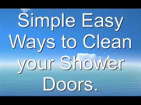 Cleaning framless shower doors