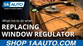 getlinkyoutube.com-What not to do when replacing a power window motor. BUY QUALITY AUTO PARTS AT 1AAUTO.COM