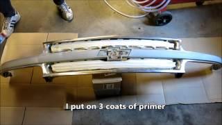getlinkyoutube.com-Painting a chrome  grill of a 2001 Chevy  Suburban