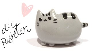 getlinkyoutube.com-How to make Pusheen Cat in Clay