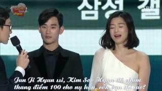 getlinkyoutube.com-[Việtsub][31.12.2014] Kim Soo Hyun and Jun Ji Hyun Best Couple [SBS Drama Awards 2014]
