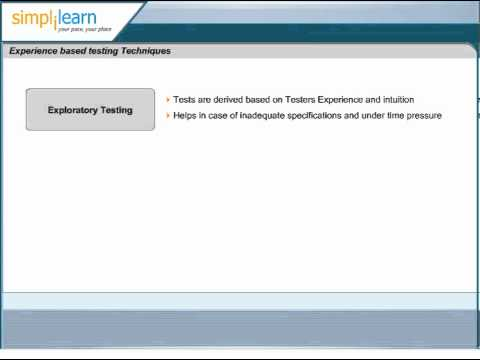 Simplilearn: Exploratory Testing | Software Testing Certification Training | CTFL Courses