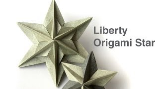 getlinkyoutube.com-How to make Liberty Origami Star