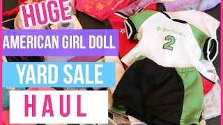 getlinkyoutube.com-HUGE American Girl Doll Yard Sale HAUL!