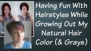 getlinkyoutube.com-Hairstyle Ideas While Growing Out My Natural Hair Color | Going Grey | Going Gray | Pixie Cut