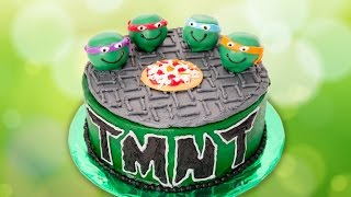 getlinkyoutube.com-Teenage Mutant Ninja Turtles Cake from Cookies Cupcakes and Cardio