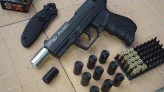 getlinkyoutube.com-15 mm POM Traumatikus toldat gáz-riasztó fegyverekhez - non-lethal traumatic POM  for gas-alarm guns