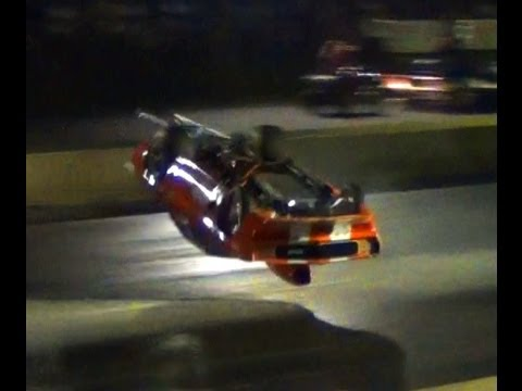 "Michael Martin ""The Juice Man"" Huge Wheelstand then Crash at Yellowbullet Nats"