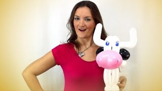 getlinkyoutube.com-Cow Balloon Animal How-To Instructions - Tutorial Tuesday!