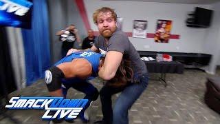 getlinkyoutube.com-Dean Ambrose gets into a backstage brawl with AJ Styles: SmackDown LIVE, Nov. 29, 2016