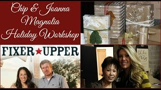 getlinkyoutube.com-HGTV FIXER UPPER MAGNOLIA HOLIDAY WORKSHOP | GIFT WRAPPING IDEAS