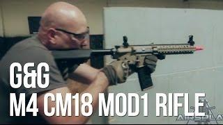 getlinkyoutube.com-G&G M4 CM18 MOD1 Airsoft AEG - AirSplat On Demand