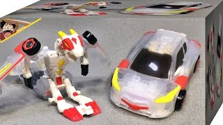 getlinkyoutube.com-터닝메카드 테로 화이트 버전 위대한 드래곤 자동차 로봇 변신의 메카니멀 손오공 장난감 리뷰 Turning Mecard Tero