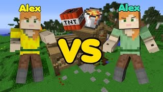 getlinkyoutube.com-Alex vs. Alex - Minecraft